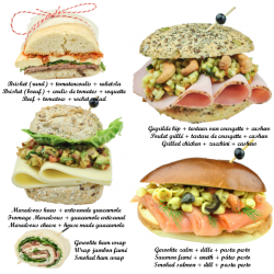 You receive 5 kinds of sandwiches (3 per person) see picture for details