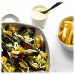 Mussels + french fries +...